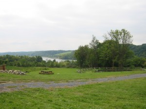 Apple orchards by the river